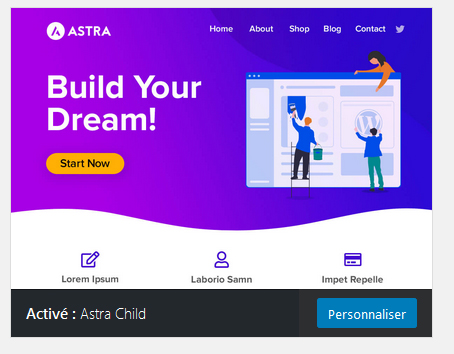 Astra-child thème enfant